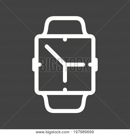 App, watch, clock icon vector image. Can also be used for Smart Watch. Suitable for mobile apps, web apps and print media.