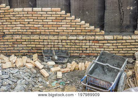 Basement Brick Insulation Wall