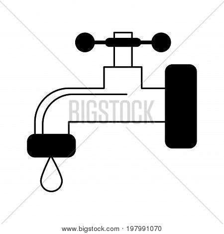 water faucet icon image vector illustration design  black and white