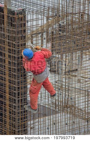 Ironworkers Install Reinforcing Steel