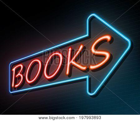 Books Neon Concept.