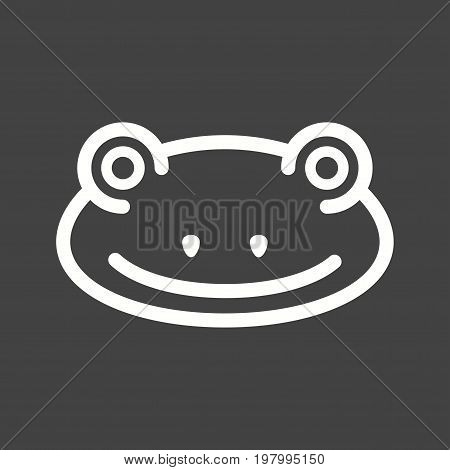 Frogs, animal, green icon vector image. Can also be used for Animal Faces. Suitable for mobile apps, web apps and print media.