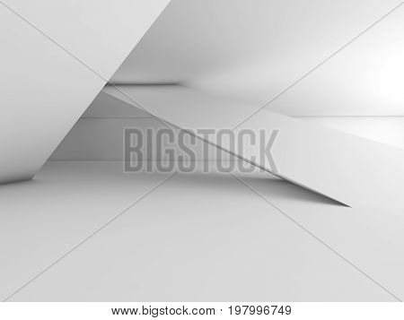 Abstract White Empty Contemporary Interior 3 D
