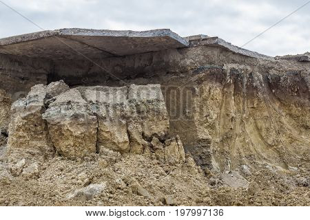 Section Of Soil Erosion Texture Background