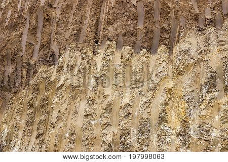 Soil Cross Section After Working Excavator 2