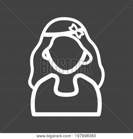 Headband, girl, pin icon vector image. Can also be used for Avatars. Suitable for use on web apps, mobile apps and print media.