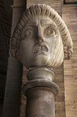 Antic drama roman mask in Vatican, Rome, Italy poster