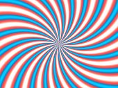 Optical Illusion Hypno Red Blue Apparent Circular Motion poster