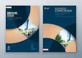 Brochure template layout design. Corporate business annual report, catalog, magazine, flyer mockup. Creative modern bright concept circle round shape poster