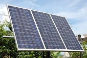 Solar panel - three 165 W Photovoltaic panels poster