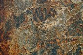 texture of rusty iron cracked paint on an old metallic surface sheet of rusty metal with cracked and flaky paint corrosion decay metal background decay steel decay poster