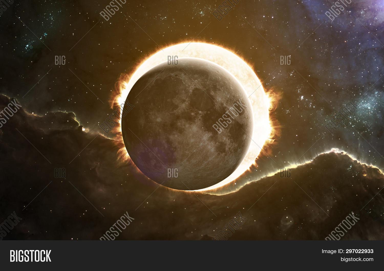 Solar Eclipse Moon Image Photo Free Trial Bigstock