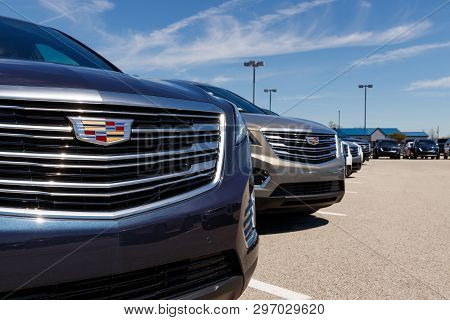 Noblesville - Circa April 2019: Cadillac Automobile Dealership. Cadillac Is The Luxury Division Of G