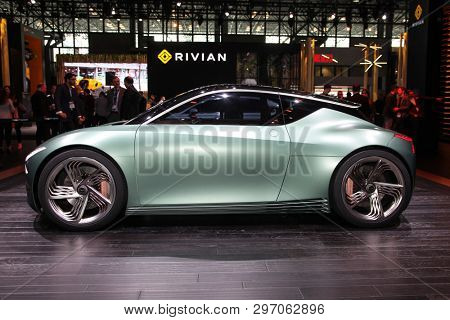 NEW YORK, NY, USA - APRIL 17, 2019: Genesis Mint concept at the New York International Auto Show 2019, at the Jacob Javits Center. This was Press Preview Day One of NYIAS