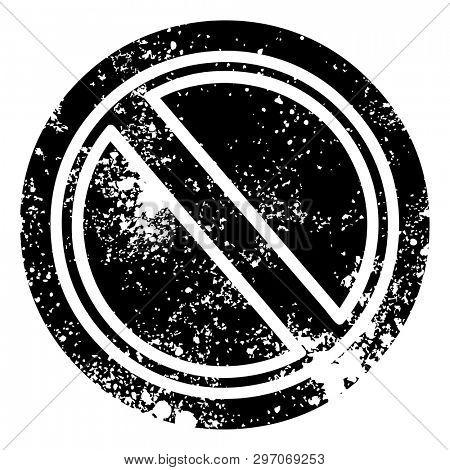 generic stop distressed icon symbol