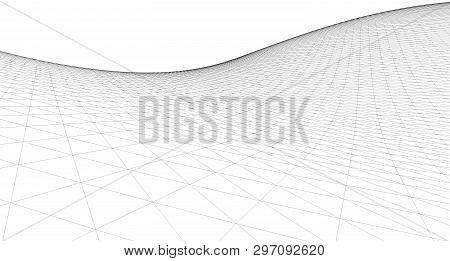Abstract Terrain Wireframe Landscape Background,  Mountain, Terrain, 3d, Shape, Surface, Pattern, Ne