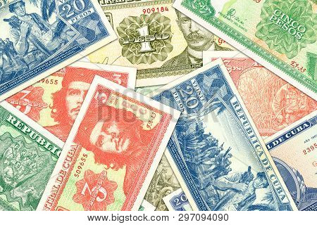 Some Cuban Peso Banknotes Indicating Growing Economy