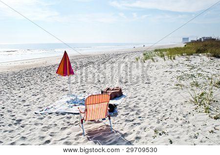 Loney winter beach