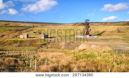 Grove Rake Disused Lead Mine, The Remains Of The Mine Are Near Rookhope In Weardale, County Durham,