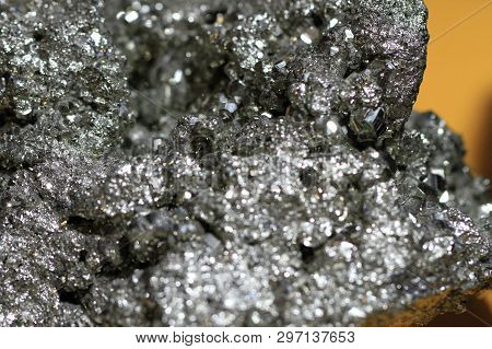 Natural Mineral Pyrite Texture As Very Nice Background