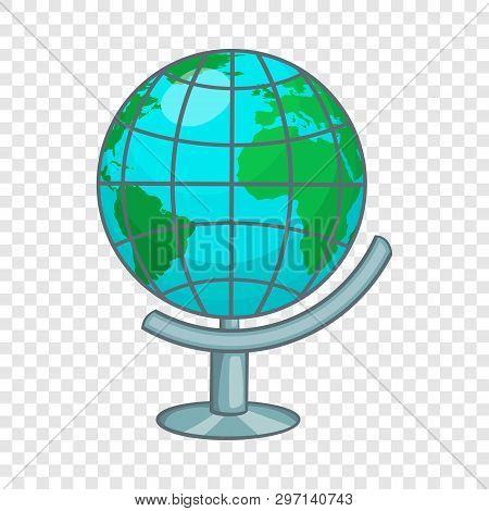 Terrestrial Globe Icon. Cartoon Illustration Of Terrestrial Globe Vector Icon For Web