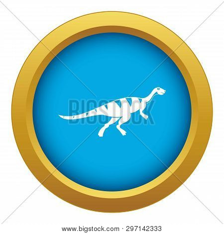 Gallimimus Dinosaur Icon Blue Vector Isolated On White Background For Any Design