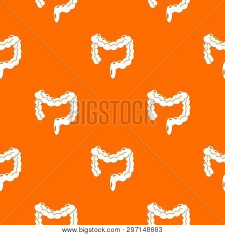 Human Large Intestine Pattern Vector Orange For Any Web Design Best