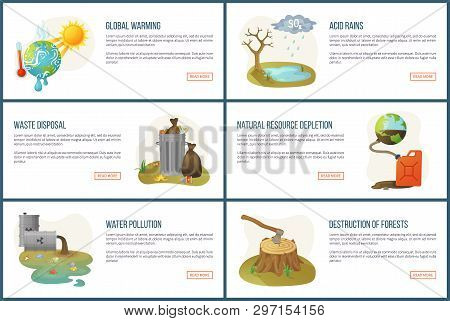 Global Warming Vector, Environmental Problems And Issues, Resource Depletion, Waste In Cans, Heat Of