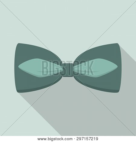 Green Bow Tie Icon. Flat Illustration Of Green Bow Tie Vector Icon For Web Design