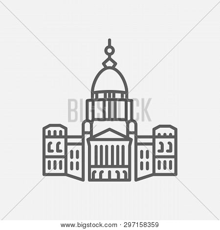 Senate Icon Line Symbol. Isolated Vector Illustration Of  Icon Sign Concept For Your Web Site Mobile