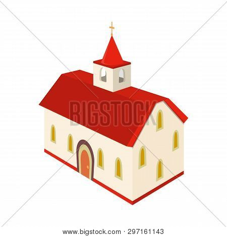 Isolated Object Of Church And Cathedral Icon. Set Of Church And Cross Vector Icon For Stock.