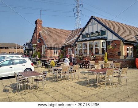 Northampton, England, -circa April 2019 - A Modern Version Of The Old English Pub Awaits Family Gues