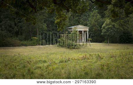 Peacock Island - Pfaueninsel, Berlin, Germany: 20th August 2018: Queen Louise Memorial Temple
