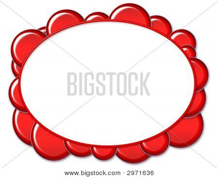 Red Oval Bubble Frame
