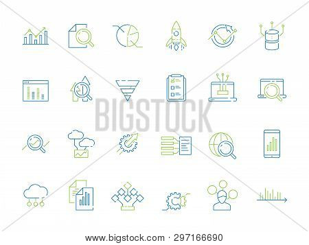 Business Analysis Icon. Manager Strategy Diagram Graphics Of Risque Financial Research Strategy Data