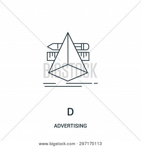 D Icon Isolated On White Background From Advertising Collection. D Icon Trendy And Modern D Symbol F