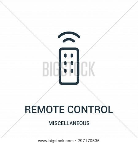 Remote Control Icon Isolated On White Background From Miscellaneous Collection. Remote Control Icon