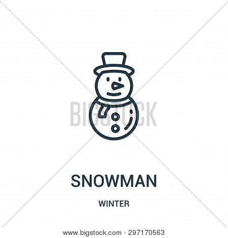 Snowman Icon Isolated On White Background From Winter Collection. Snowman Icon Trendy And Modern Sno