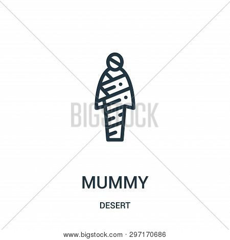 Mummy Icon Isolated On White Background From Desert Collection. Mummy Icon Trendy And Modern Mummy S
