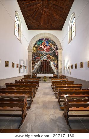 Candelaria, Spain - March 24, 2018: Interior View Of The Basilica De La Candelaria And Shrine Of Bla