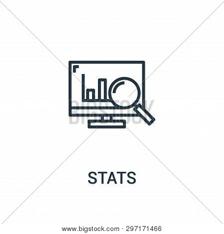 Stats Icon Isolated On White Background From Seo Collection. Stats Icon Trendy And Modern Stats Symb