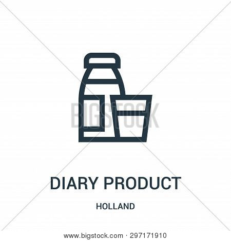 Diary Product Icon Isolated On White Background From Holland Collection. Diary Product Icon Trendy A