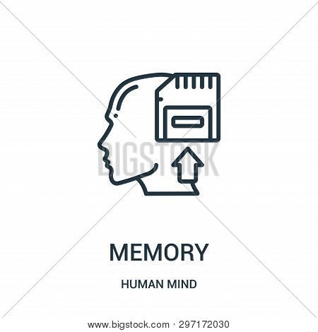 Memory Icon Isolated On White Background From Human Mind Collection. Memory Icon Trendy And Modern M