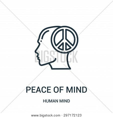 Peace Of Mind Icon Isolated On White Background From Human Mind Collection. Peace Of Mind Icon Trend