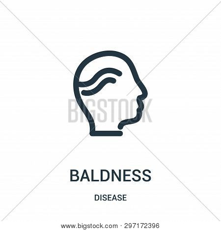 Baldness Icon Isolated On White Background From Disease Collection. Baldness Icon Trendy And Modern