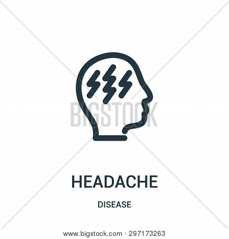 Headache Icon Isolated On White Background From Disease Collection. Headache Icon Trendy And Modern