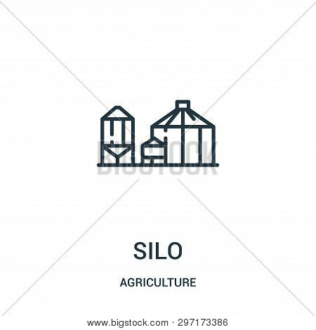 Silo Icon Isolated On White Background From Agriculture Collection. Silo Icon Trendy And Modern Silo