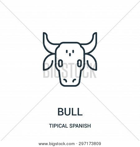 Bull Icon Isolated On White Background From Tipical Spanish Collection. Bull Icon Trendy And Modern