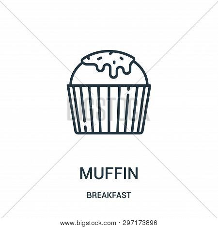 Muffin Icon Isolated On White Background From Breakfast Collection. Muffin Icon Trendy And Modern Mu