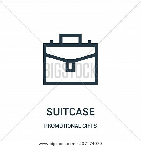 Suitcase Icon Isolated On White Background From Promotional Gifts Collection. Suitcase Icon Trendy A
